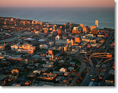 Aerial Photography Milwaukee Sunset